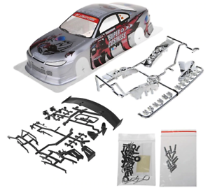 1//10 Onroad Rc Car Body Shell Wing Led Light Buckets For Traxxas 4tec
