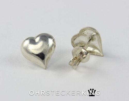 Neu 925-Silber Ohrstecker Herz Echt Silber