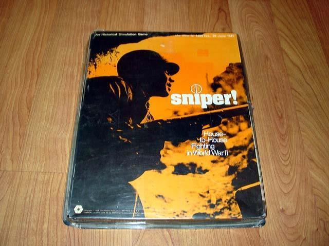 SPI Simulations Publications 1973 - Sniper game  House to House Fighting WW2 PUN