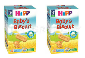 2 x HIPP Organic Baby Biscuits Snacks Cookies From 6+ Months 150g 5.3oz