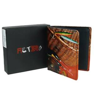 Mens-Leather-Fishing-Tri-Fold-Wallet-by-Retro-Gift-Box-Anglers-Fish-Hook-Rod
