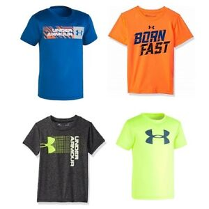 New-Under-Armour-Little-Boys-Graphic-Print-T-Shirt-SIZE-2-3-4-5-6-7-MSRP-25-00