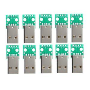 10PCS-Type-A-USB-Male-to-DIP-2-54mm-PCB-Board-Power-Supply-Adapter-Module