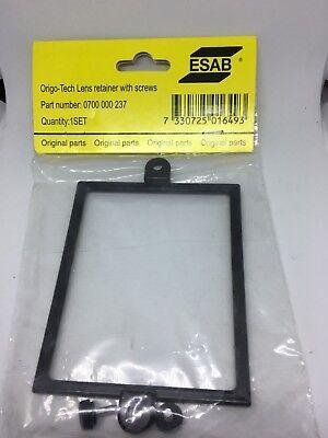 2 x  ESAB lense retainer with screws pack of 2 Origo-tech Esau 0700000237 new