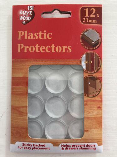 pour de nombreux usages dans la maison 12 x 21 mm Collant Protecteurs Plastique Protection