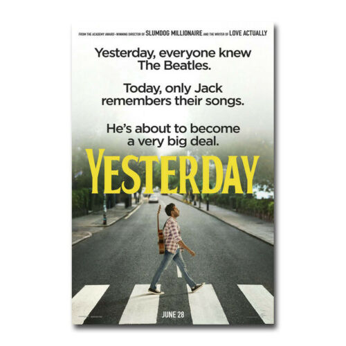 Yesterday Movie Art Canvas Poster New Art Bedroom Decor Print 24x36 inch