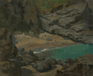 Laurence H.F. Irving (1897-1988) - 20th Century Oil, Beach with Dramatic Cliffs