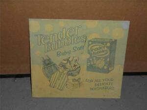 9-034-x-10-034-Tender-Bubbles-Baby-Soft-Detergent-Advertising-Tin-Sign-Reproduction