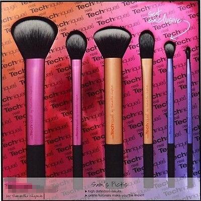 6 pcs Set Pro Techniques Powder Cosmetic Makeup Blush Brushes Foundation Tool