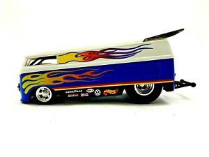 1999 Mattel Hot Wheels VW Drag Bus Panel Van Volkswagen 1/18 scale #748