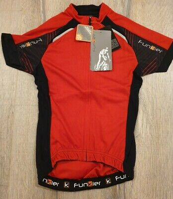 Funkier Hueza Gents Elite Short Sleeve Cycling Jersey Black Size Small RRP £49.9