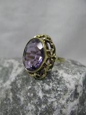 Vintage ovaler Amethyst Ring / Damenring 333 / 8 K Gold ~1950