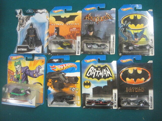 Lot of 8 Hot Wheels Batman Batman Batman Batmobile types   All different The Joker DC Comics da4d0f
