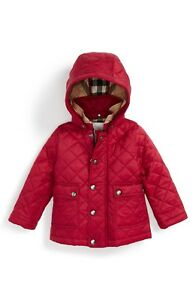 NWT NEW Burberry baby girls Jamie fritillary pink hooded quilted ... fe86e0db7d