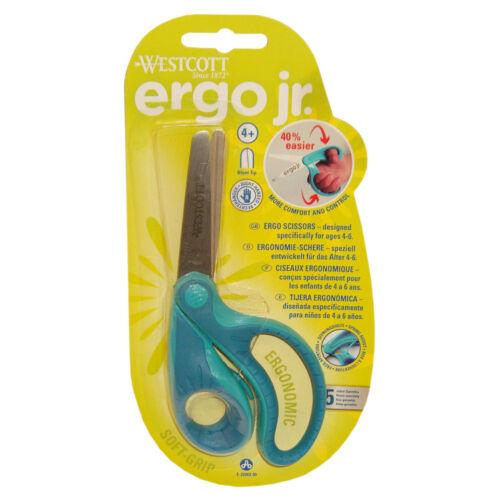 m apertura ayuda azul Soft-pinzamientos ronda punta Ergonómica tijeras ergo jr