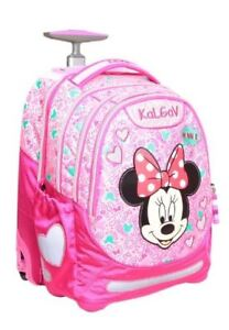 d1aed6f6164 Minnie Mouse Disney I Trolley Rolling School Bag Backpack Kids ...