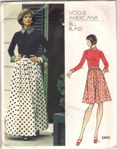Vogue DESIGNER Sewing Pattern 2865 Bill Blass Vintage Dress Size 10 ...
