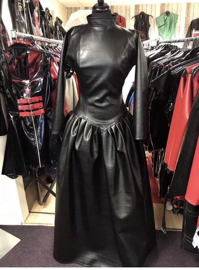 Vestido de fiesta inadaptados Negro Mirada  de Cuero amante talla 22 TV Goth CD Gótico  gran venta