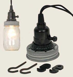 image is loading mason jar pendant hanging lamp kit no wiring - Hanging Lamp Kit