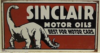SINCLAIR metal sign Motor Oils best for motor Cars dinosaur dino gas auto 1269