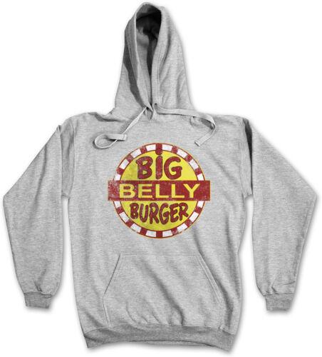 Cappuccio Burger Cappuccio Food Felpa Catena con Big Belly con Fast Felpa Fumetteria RqICw