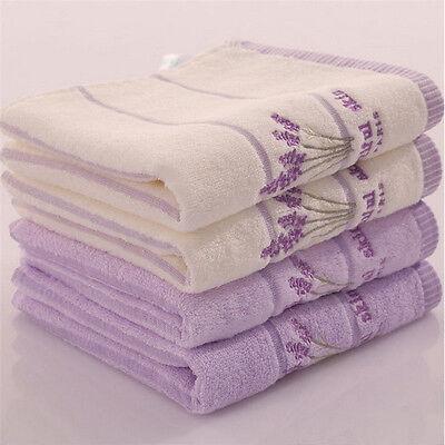 34*75cm Soft Printed Aromatherapy Bath Face Towel Hand 100/% Cotton Lavender