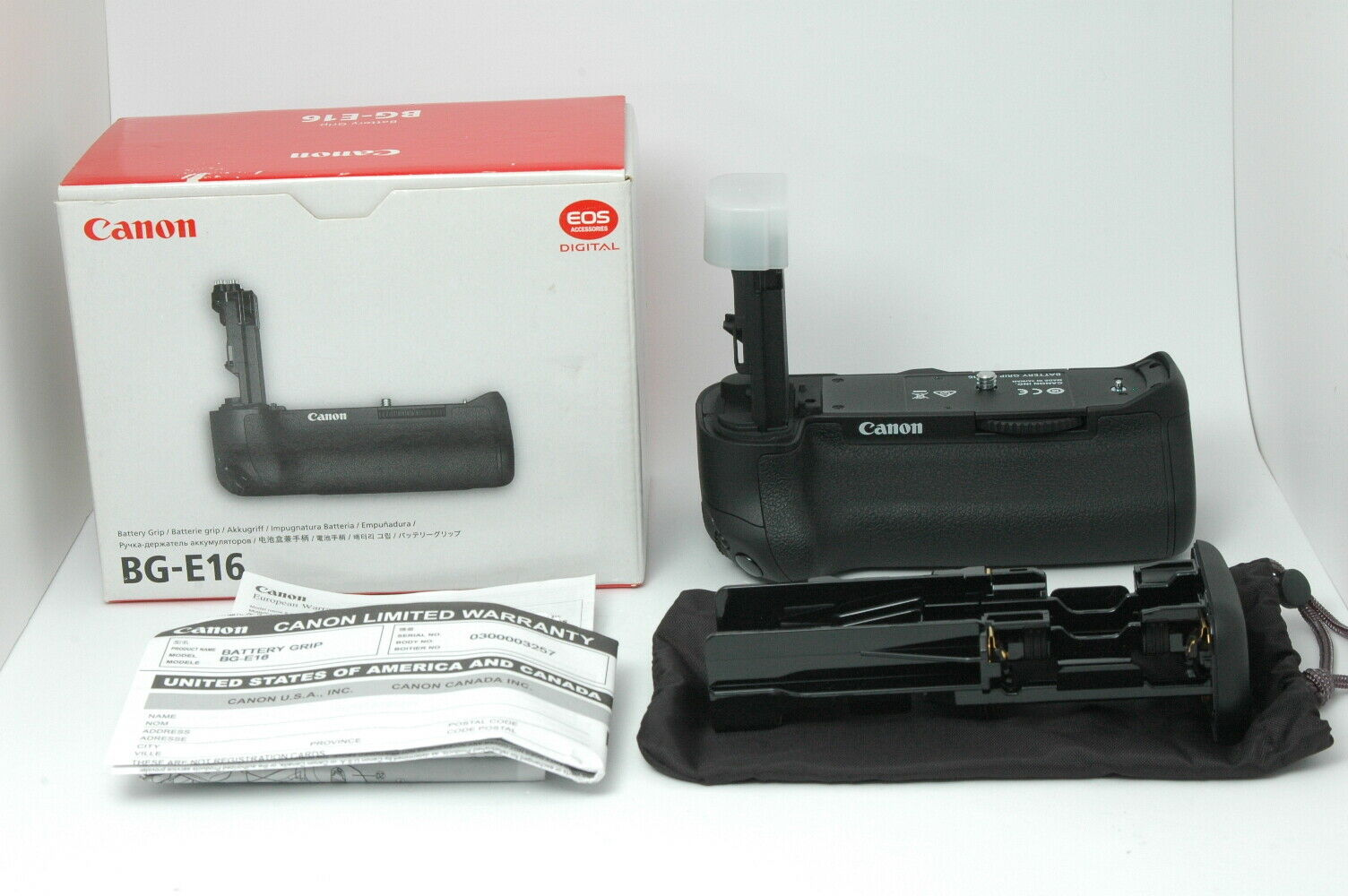 [Almost MINT] Canon Battery Grip BG-E16 for 7D Mark II from JAPAN F92