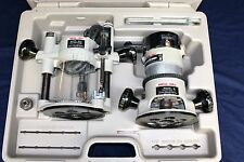 PORTER CABLE 690 PLUNGE ROUTER 2 BASE KIT w/ CASE
