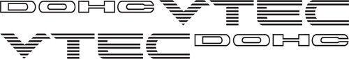 DOHC VTech X2 Vinyl Car Vehicle Window JDM Racing  Decal Sticker Quote