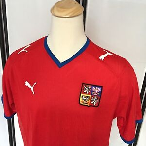 Czech Republic team 2006 2007 2008 home Size XXL Puma shirt jersey ... c03efe2df