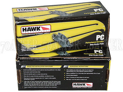 Hawk Performance Ceramic Brake Pads Front /& Rear 2010-2013 Range Rover Sport S//C