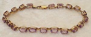 9-carat-solid-gold-amp-amethyst-vintage-Victorian-antique-bracelet