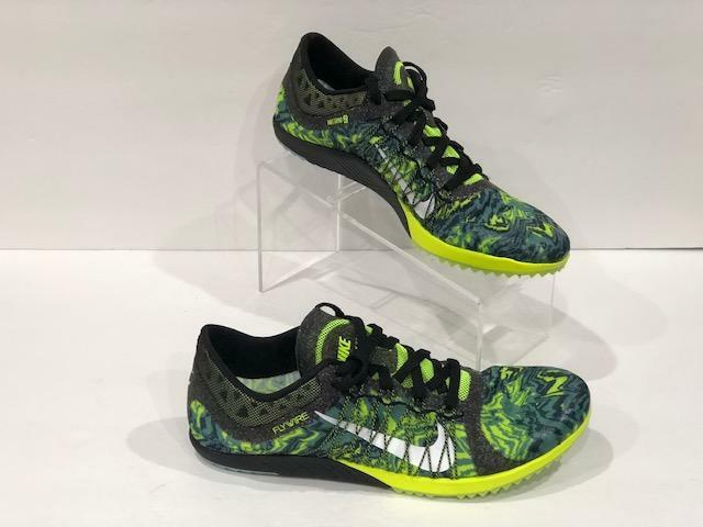 NIKE ZOOM 12 Victory Track shoes FLYWIRE Spikes Cleats 654693-007 NEON GREEN