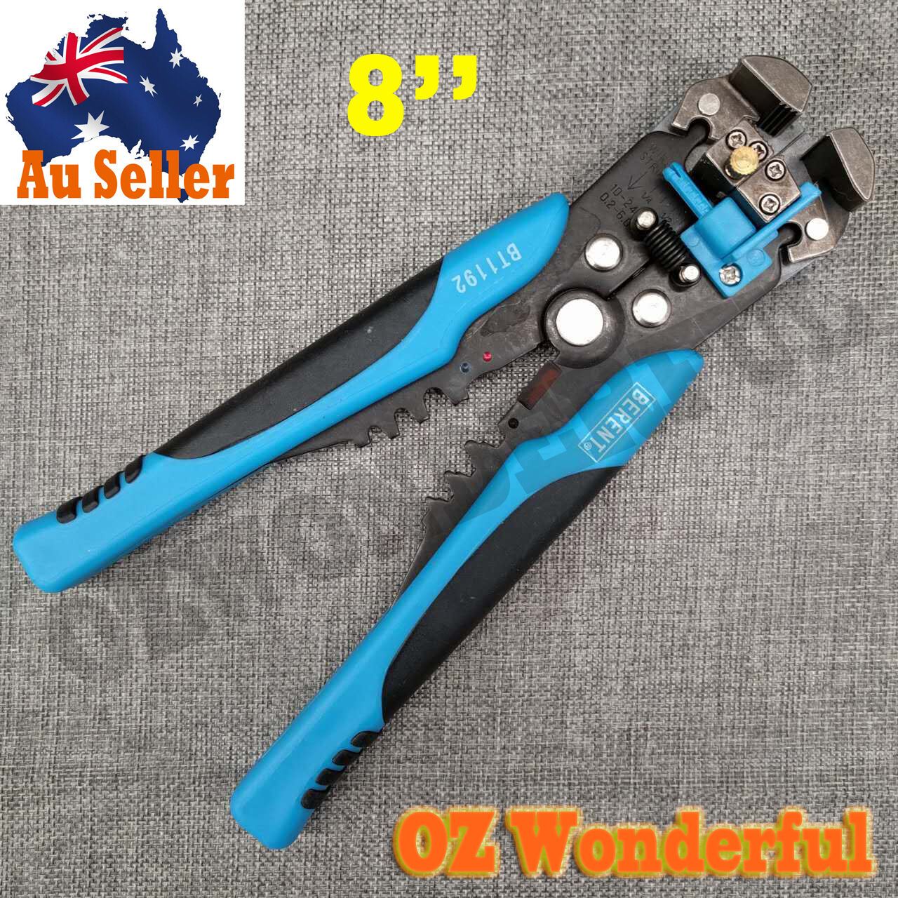 8\'\' Dual Action Automatic Wire Stripper Cutter Plier Electrical ...