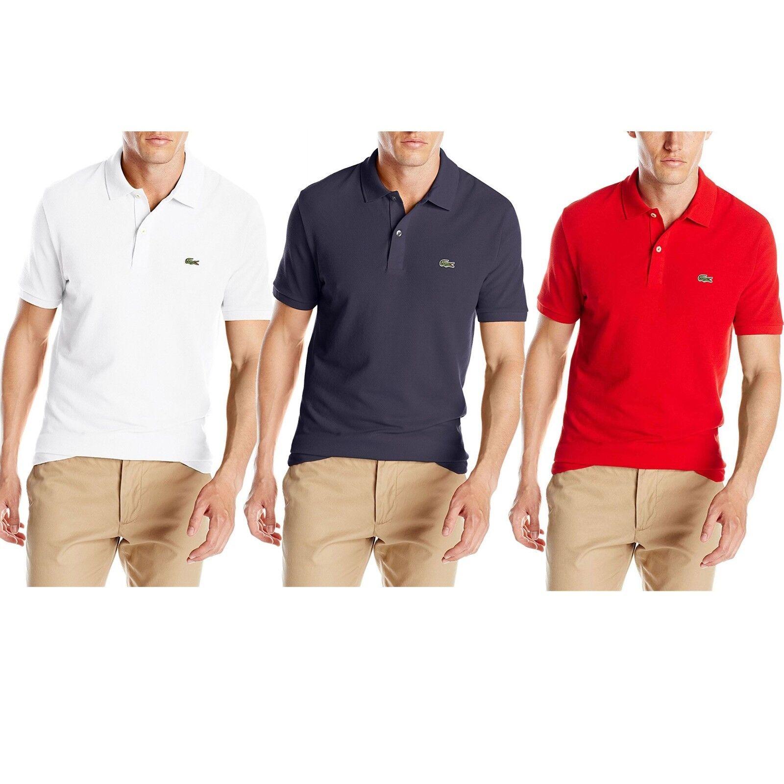 Lacoste Men Classic Pique Slim Fit Casual Cotton Jersey Pique Polo T-Shirt NEW