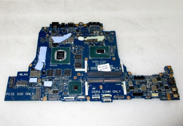 *AS-IS* Dell Alienware 17 R4 Motherboard i7-8750H GTX1070 8GB GPU LA-F551P