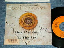 "WHITESNAKE(DEEP PURPLE) Japan 1987 7""45 HERE I GO AGAIN"