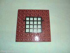Lego Duplo pieza de repuesto 1 x trampilla falltor marrón con rejilla ritterburg 4777 4988