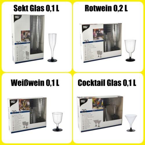 Weisswein Martini Cocktail Gläser Einweg Stielgläser Rotwein Sektgläser