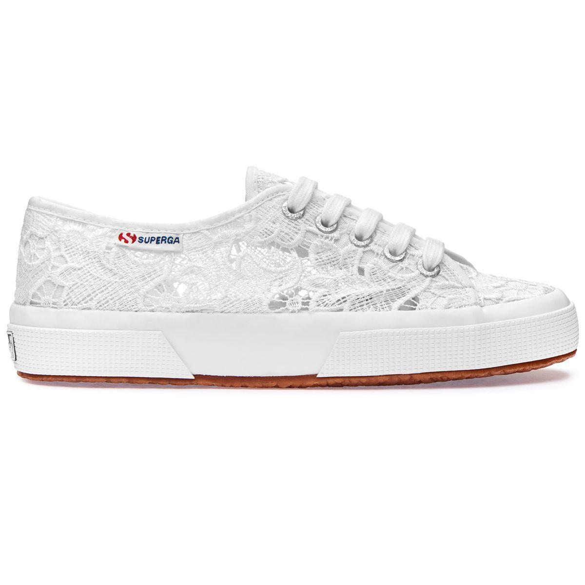SUPERGA 2750 BIANCO PIZZO MACRAME S008YA0  - white sneakers