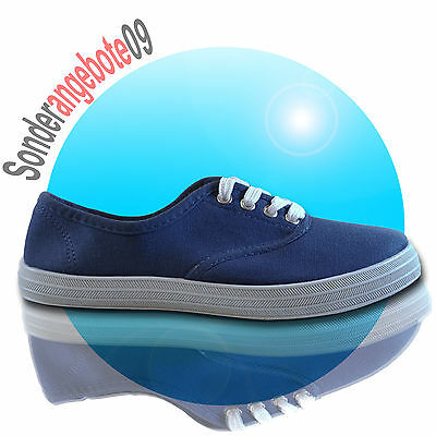 Damen Scandi Sportschuhe Runners Freizeitschuhe Turnschuhe Turn Low navy blau