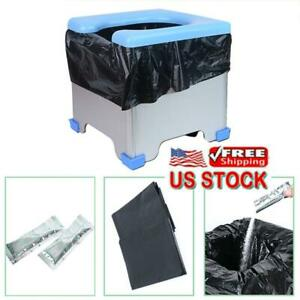Car-Portable-Folding-Toilet-Outdoor-Camping-Long-distance-Travel-Commode-Seat-US