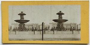 Place Da La Concorde Parigi Foto N° PL40L7 Stereo Vintage Albumina