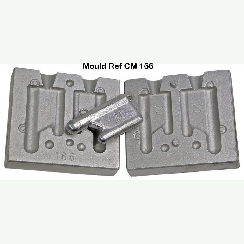 Twin Mould for flat Mini  Trolling Weight weights 60 and 80gram