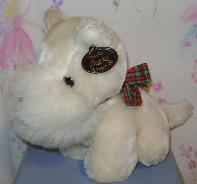 This Is Fine Dog Stuffed Animal, Fine Toy The Old Classics White Dog Scottie Terrier Schnauzer Plush 12 Ebay