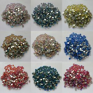 6148ca077e Glass Rhinestones Crystal AB Non Hotfix Flatback Stones 3D Nail Art ...