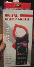 Dt266 Digital Clamp Meter Acdc Multimeter Ohmmeter Temperature Tester Red