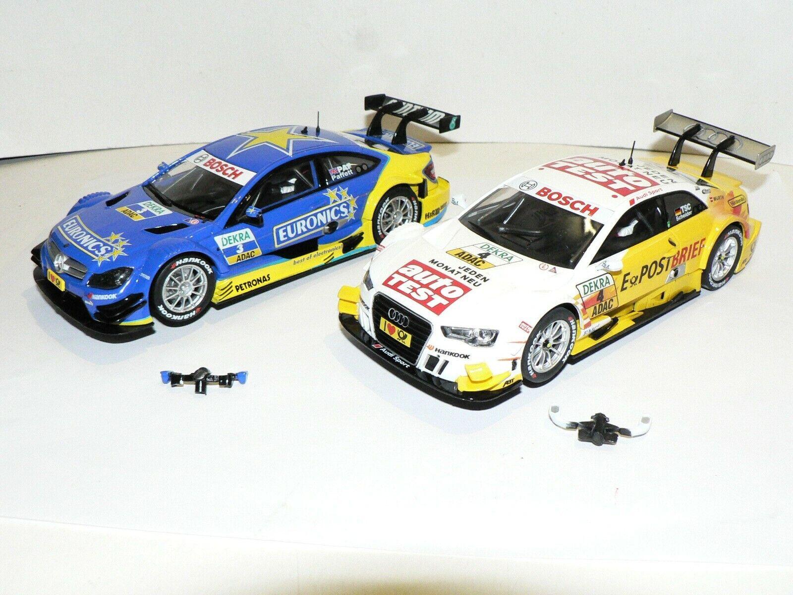 Carrera Digital 132 30658 Audi A5 DTM Scheider + 30675 AMG Mercedes Paffett