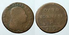 pcc951_4) Napoli Fedinando IV Tornesi 8  1797