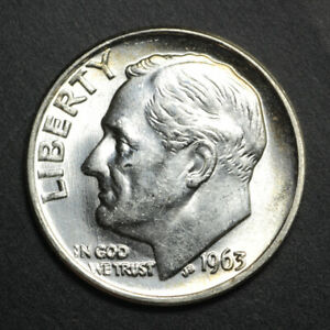 1963-P BU Silver Roosevelt Dime Roll